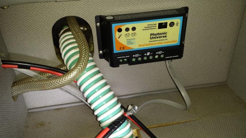 Solar controller mounted.